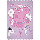 Peppa Pig Happy Fleece Blanket
