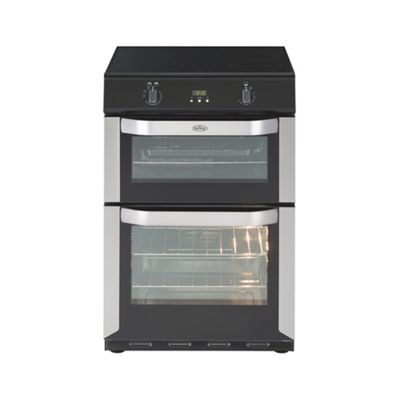 Belling FSE60DO 600mm A Rated Double Oven with Variable Grill in Stainless Steel