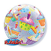 Cupcakes Bubble Balloon - 22 inch Plastic