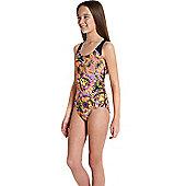 Speedo Girls Endurance 10 Allover Splashback Swimsuit - Multi