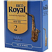 Rico Royal 2 Alto Sax Reed (x10)