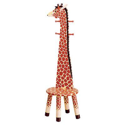 Teamson Kids Safari Stool W/Coat Rack - Giraffe
