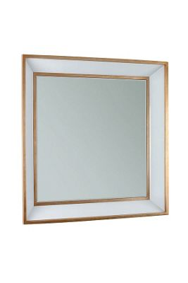 Roedera Wall Mirror - Gold Gilded Edging & White Glass