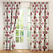 Julian Charles Carmen Red Jacquard Lined Pencil Pleat Curtains - 44x72 Inches (112x183cm)