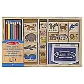 Wooden Animal Stamp Set - Melissa & Doug