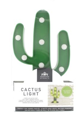 Home Eye Catching Gift Wear LED Green Cactus Wall Lamp Light
