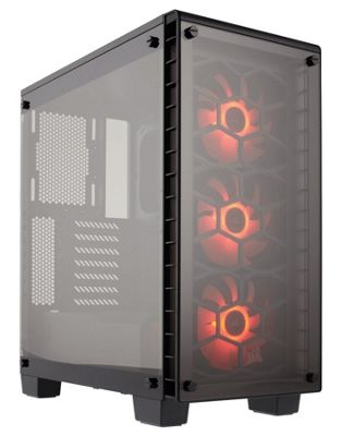 Corsair Crystal 460X RGB Glass Compact ATX Gaming PC Mid Tower Case