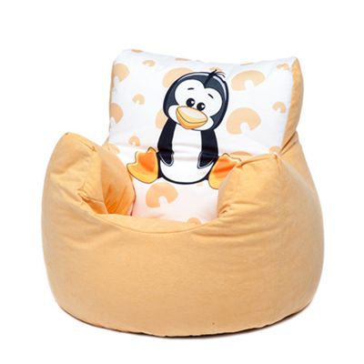 Yellow Penguin Children's Character Micro Suede Bean Bag Chair