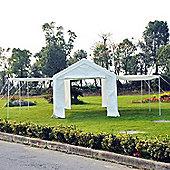 Outsunny 6m x 3m Garden Tent Car Gazebo Marquee w/ Sidewalls & Zipped Door