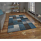 Brooklyn Edgy Squares Rug - Blue