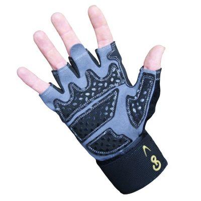 GoFit Diamond Tac Weightlifting Glove with Wrist Wrap Black XX LARGE