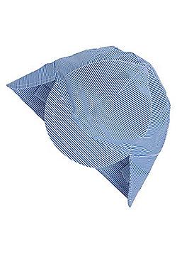 F&F Striped Keppi Sun Hat - Blue