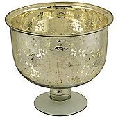 Antiqued Silvered Glass Fruit Bowl