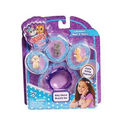 Kitty Charm Bracelet Set (Purple) - Kitty In My Pocket
