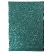 Relief Paisley Teal Rug 160x230cm