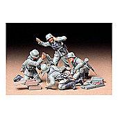 Military Miniatures German Infantry Mortar Team - 1:35 Scale Military - Tamiya