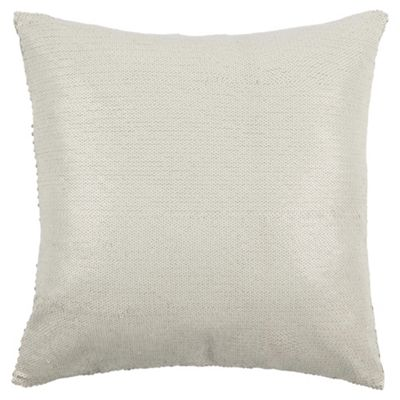 Sequin Cushion White