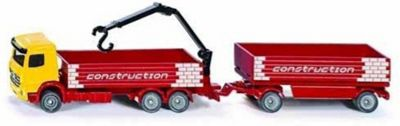 Truck with Construction Material and Trailer - 1:87 Scale
