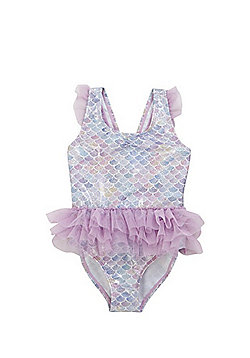 F&F Foil Mermaid Scale Tutu Swimsuit - Multi