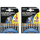 16 x Duracell MX2400 Ultra Power AAA Size Batteries