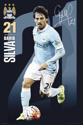 Manchester City FC David Silva 2015/16 MCFC Poster