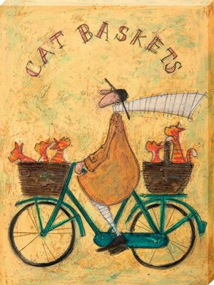 Sam Toft Cat Baskets Large Canvas Print 60x80cm