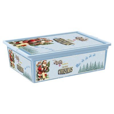 Christmas Decorations Storage Box With Lid Large