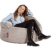 Lounge Pug® 2 in 1 Extra Large Bean Bag Chair & Pouffe - Cord Ivory