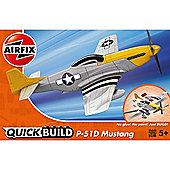 Airfix Quickbuild Mustang P-51D Plastic Model Aircraft Kit J6016