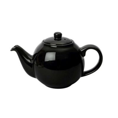 London Pottery Globe Teapot 4 Cup 1.1 Litre in Gloss Black