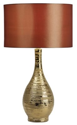 Endon Lighting Ceramic Table Lamp in Gold Glaze