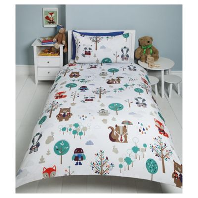 Tesco Forest Friends Duvet Set Multicoloured Single