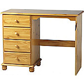 Sol 4 Drawer Dressing Table - Solid Pine - Antique Finish - Table/Storage