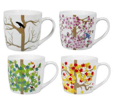 Puhlmann 4 Seasons Mugs Set of 4