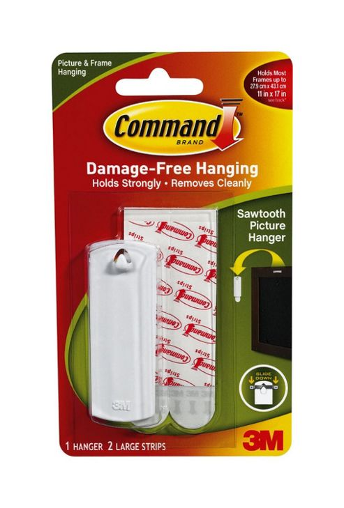 Command Sawtooth Picture Hanger Kit with Command Adhesive Strips