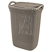 Curver Knit Laundry Hamper, Brown
