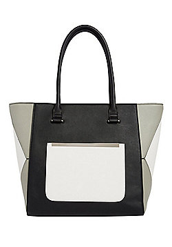 F&F Colour Block Winged Tote Bag