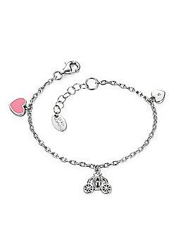D for Diamond Girl's Silver Fairy Carriage Bracelet