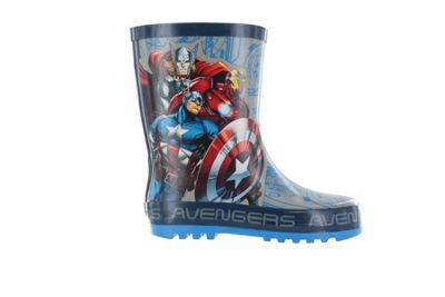 Boys Marvel Avengers Grey & Blue Wellies Wellington Rain Boots Sizes UK Kids 12