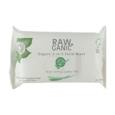 Raw Organic Cleansing, Toning And Moisturising Facial Wipes (25wipe -)