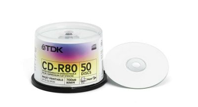TDK CDR-80 Printable 52x 50-piece Cakebox