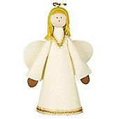 Cream and Gold Handmade Angel Tree Topper