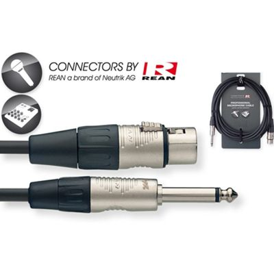 Rocket Premium N Series XLR-Phone Mic Cable - 6m