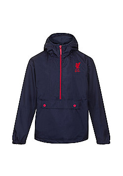 Liverpool FC Boys Shower Jacket - Navy