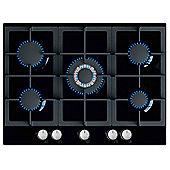 MyAppliances ART28906 70cm Gas on Glass Hob in Black