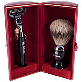 Kent Horn Brush and Razor Shaving Set in Presentation Case