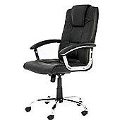 Alphason Houston Leather Executive Chair - Black
