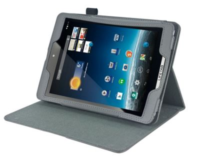 Navitech Grey Stand Case Cover for the Apple iPad Mini 1 2 3 4 with headrest mount