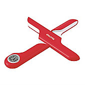 electriQ Red Compact Electronic Foldable Kitchen Scale