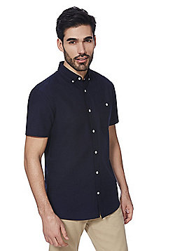 F&F Short Sleeve Oxford Shirt - Navy